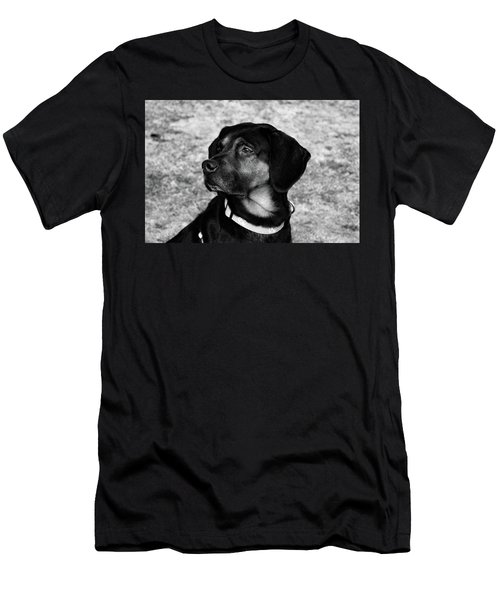 Gus - Black And White Men's T-Shirt (Athletic Fit)