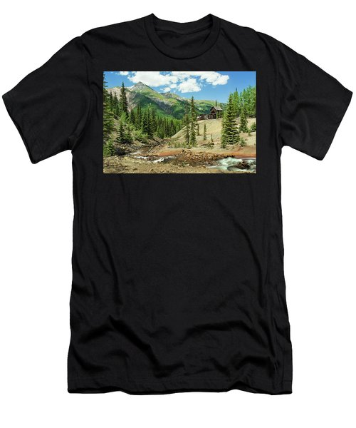 Men's T-Shirt (Athletic Fit) featuring the photograph Gustan Mine by Angela Moyer