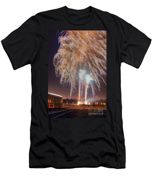 Guy Fawkes Night Fireworks Men's T-Shirt (Athletic Fit)