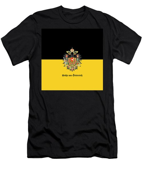 Habsburg Flag With Imperial Coat Of Arms 1 Greetings Men's T-Shirt (Athletic Fit)