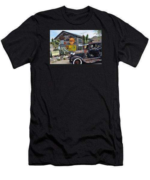 Hackberry Route 66 Auto Men's T-Shirt (Slim Fit) by Kyle Hanson