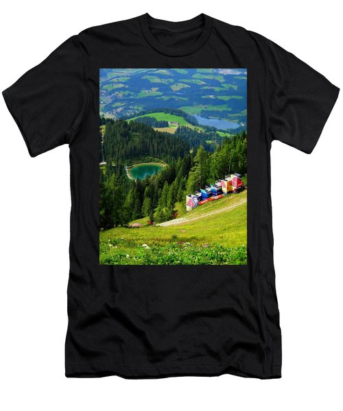 Hahnenkamm - Kitzbuehel Men's T-Shirt (Athletic Fit)