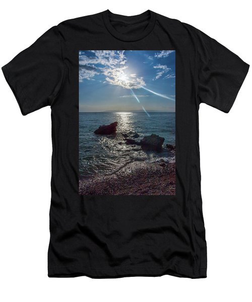 Haitian Beach In The Late Afternoon Men's T-Shirt (Athletic Fit)