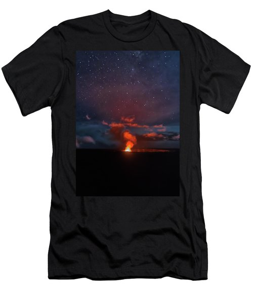Halemaumau Crater At Night Men's T-Shirt (Athletic Fit)