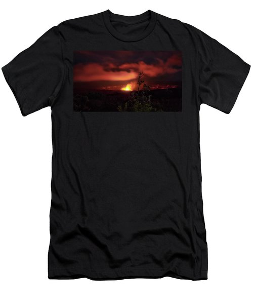 Halemaumau Crater Men's T-Shirt (Athletic Fit)