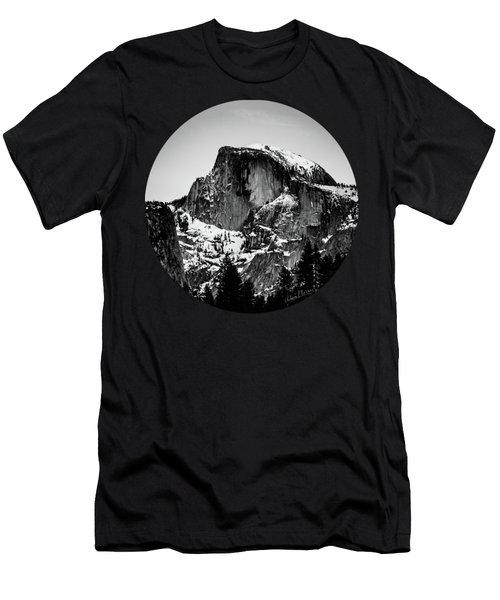 Half Dome Aglow, Black And White Men's T-Shirt (Slim Fit) by Adam Morsa