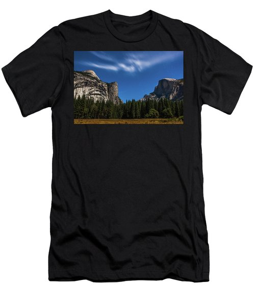 Half Dome And Moonlight - Yosemite Men's T-Shirt (Athletic Fit)
