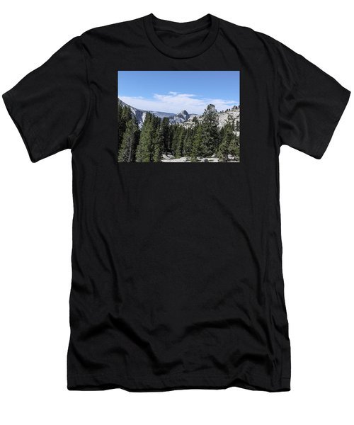 Half Dome From Olmstead Point Yosemite Valley Yosemite National Park Men's T-Shirt (Athletic Fit)