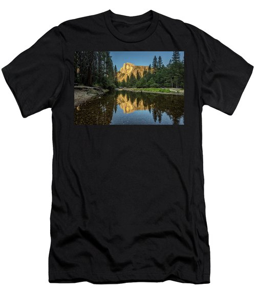 Half Dome From  The Merced Men's T-Shirt (Athletic Fit)