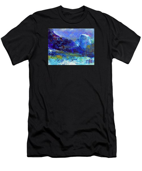 Half Dome Winter Men's T-Shirt (Slim Fit) by Walter Fahmy