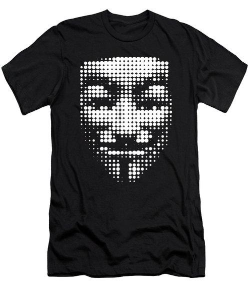 Halftone Anonymous Face  Men's T-Shirt (Athletic Fit)