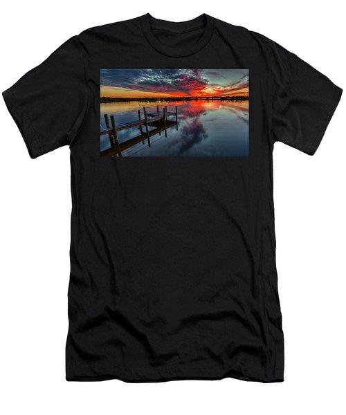 Halifax River Sunset Men's T-Shirt (Athletic Fit)