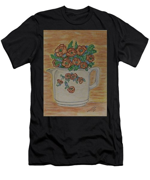 Hall China Orange Poppy And Poppies Men's T-Shirt (Athletic Fit)