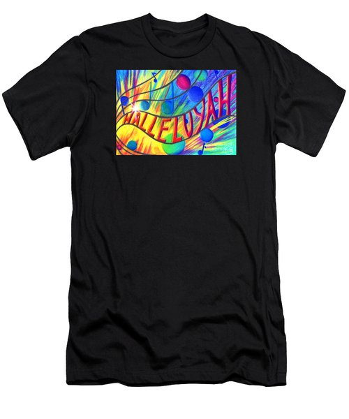 Men's T-Shirt (Athletic Fit) featuring the painting Halleluyah by Nancy Cupp