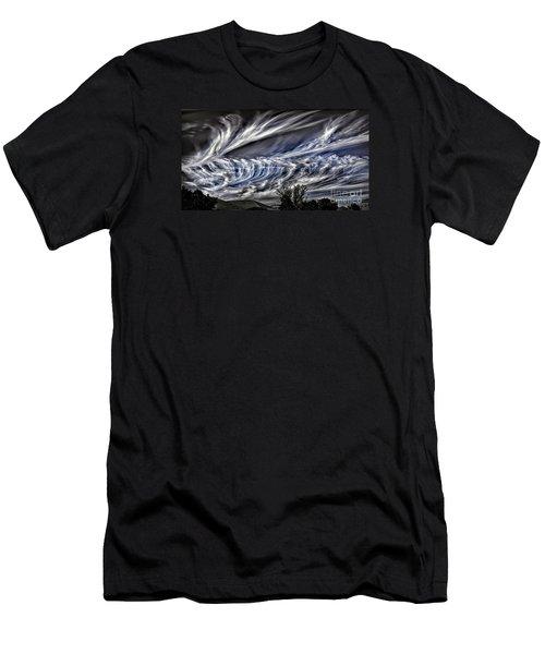 Halloween Clouds Men's T-Shirt (Slim Fit) by Walt Foegelle