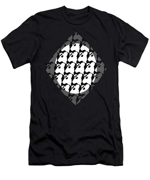 Halloween Ghosts Men's T-Shirt (Athletic Fit)