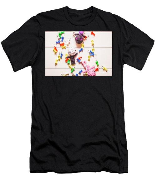 Halloween Monster Voodoo Dolls Men's T-Shirt (Athletic Fit)