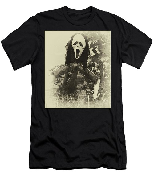 Halloween No 1 - The Scream  Men's T-Shirt (Athletic Fit)