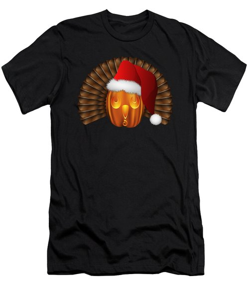 Hallowgivingmas Santa Turkey Pumpkin Men's T-Shirt (Athletic Fit)