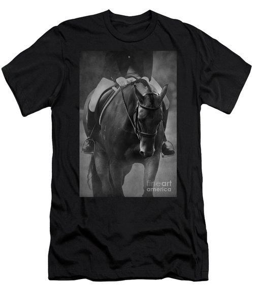 Halt Black And White Men's T-Shirt (Athletic Fit)