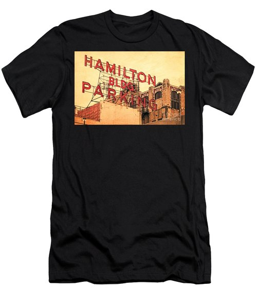 Hamilton Bldg Parking Sign Men's T-Shirt (Athletic Fit)