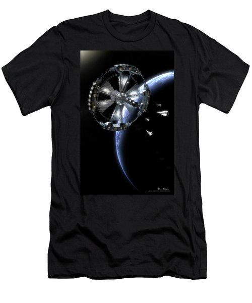 Hammer Station In Earth Orbit Men's T-Shirt (Athletic Fit)
