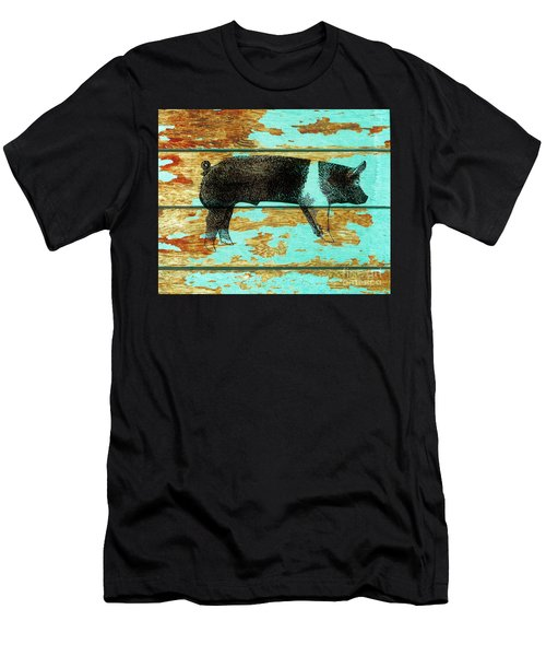 Men's T-Shirt (Slim Fit) featuring the drawing Hampshire Boar 1 by Larry Campbell