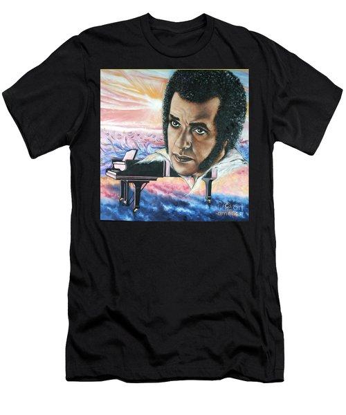 Blaa Kattproduksjoner       Hampton Hawes -jazz Pianist Men's T-Shirt (Athletic Fit)