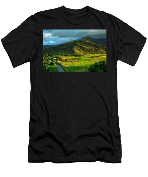 Hanalei Valley Taro Fields Men's T-Shirt (Athletic Fit)