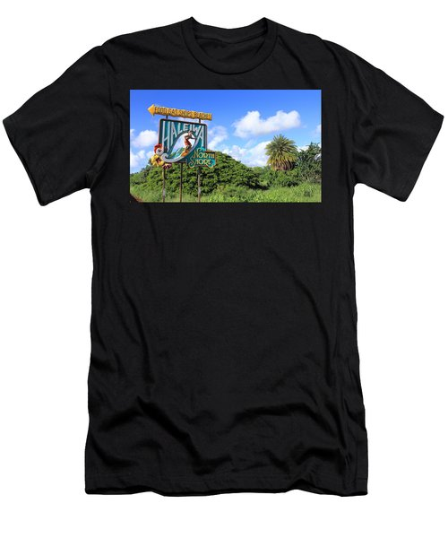 Hand-carved Hale'iwa Men's T-Shirt (Athletic Fit)