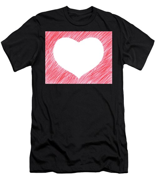 Hand-drawn Red Heart Shape Men's T-Shirt (Athletic Fit)