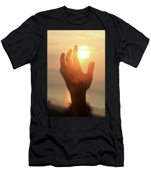 Hand Reaching Fore The Sun Men's T-Shirt (Athletic Fit)