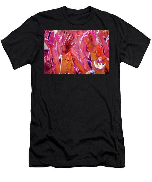 Hands Up-2 Men's T-Shirt (Athletic Fit)