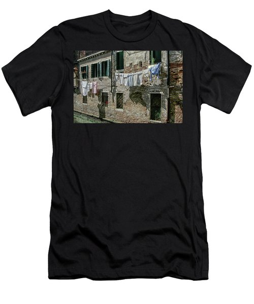 Hanging Out The Flags Men's T-Shirt (Athletic Fit)