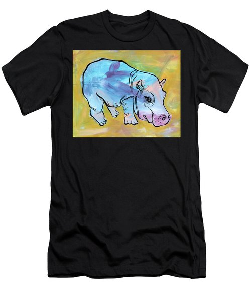 Happily Hippo Men's T-Shirt (Athletic Fit)