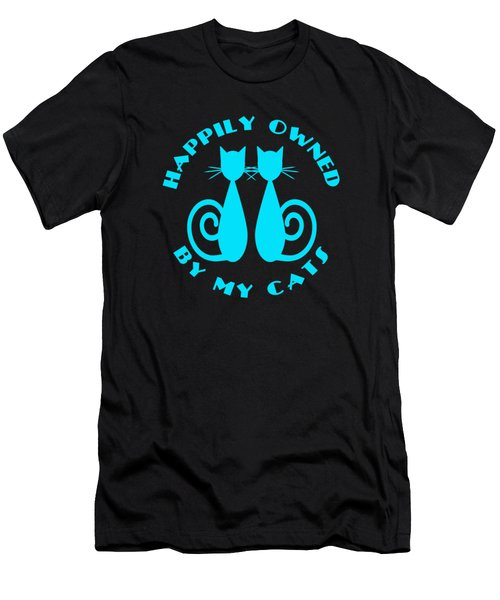Happily Owned By My Cats Men's T-Shirt (Athletic Fit)