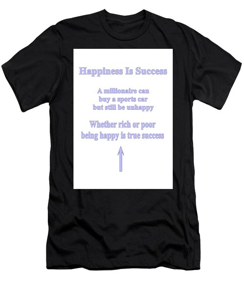 Happiness Is Success Men's T-Shirt (Athletic Fit)