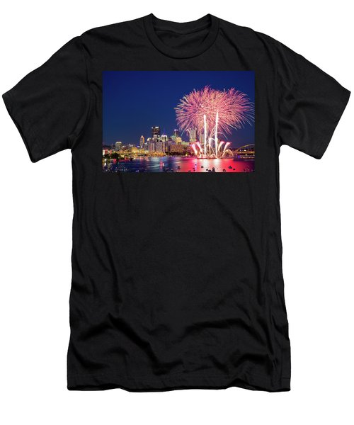 Happy 4th  Men's T-Shirt (Athletic Fit)