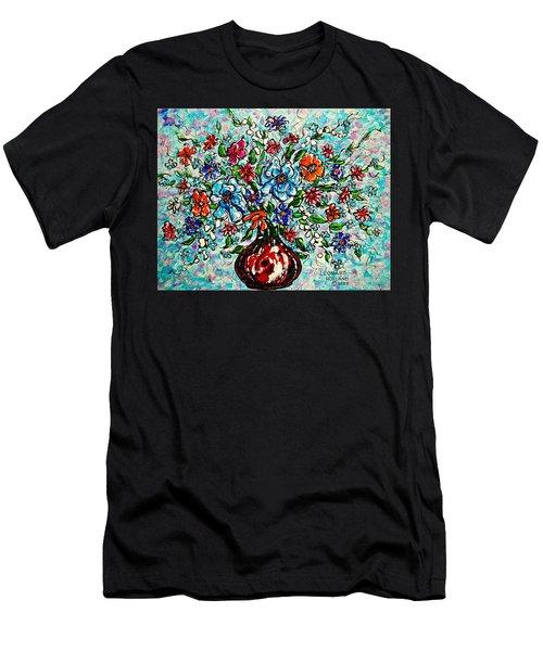 Happy Bouquet Men's T-Shirt (Athletic Fit)