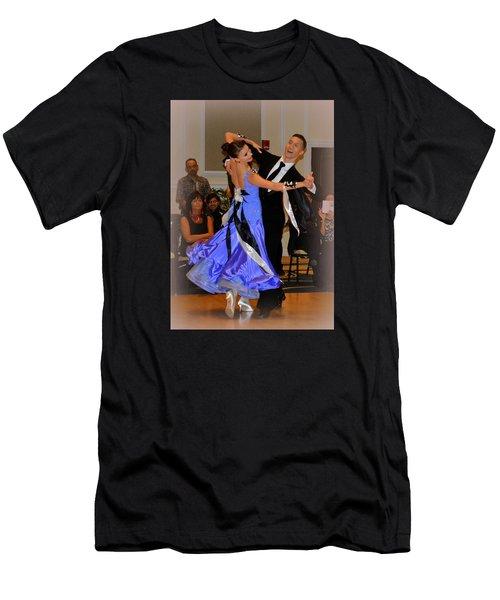 Happy Dancing Men's T-Shirt (Slim Fit) by Lori Seaman