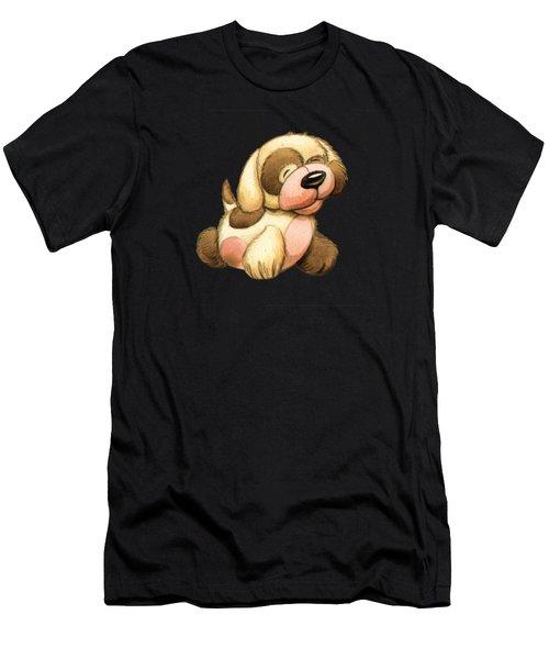 Happy Dog Men's T-Shirt (Athletic Fit)