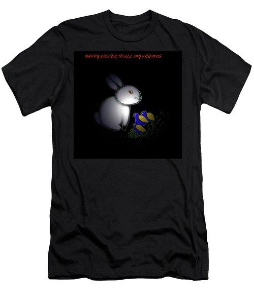 Happy Easter Men's T-Shirt (Slim Fit) by Latha Gokuldas Panicker