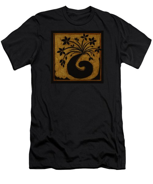Men's T-Shirt (Slim Fit) featuring the mixed media Happy Exuberance by Gloria Rothrock