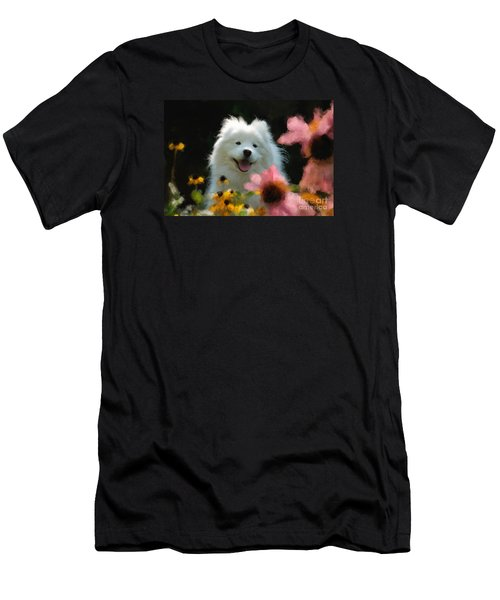 Happy Gal In The Garden Men's T-Shirt (Athletic Fit)