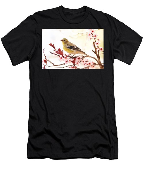 Happy Goldfinch Men's T-Shirt (Athletic Fit)