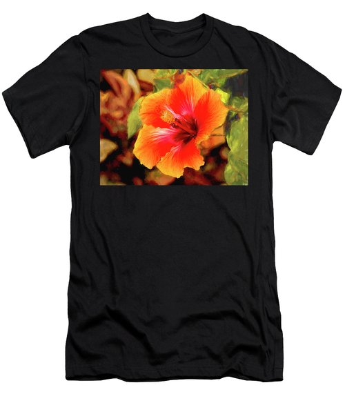 Happy Hibiscus Men's T-Shirt (Athletic Fit)