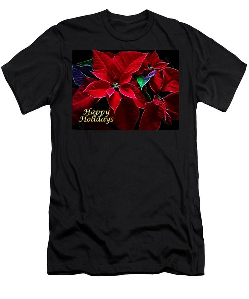 Happy Holidays Men's T-Shirt (Slim Fit) by Sandy Keeton