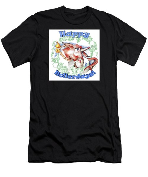 Real Fake News Happy Hollerdays Men's T-Shirt (Athletic Fit)