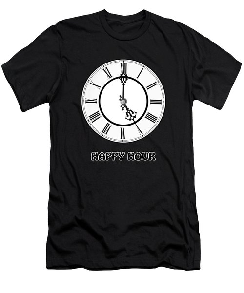 Happy Hour - On Black Men's T-Shirt (Athletic Fit)