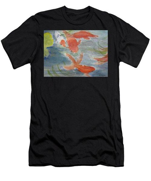 Happy Koi Men's T-Shirt (Athletic Fit)